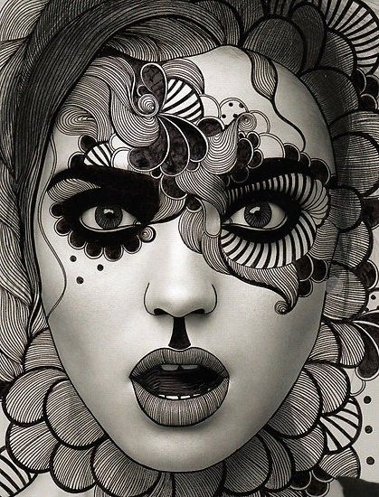 419x550 Photos Creative Drawing Designs Black And White,
