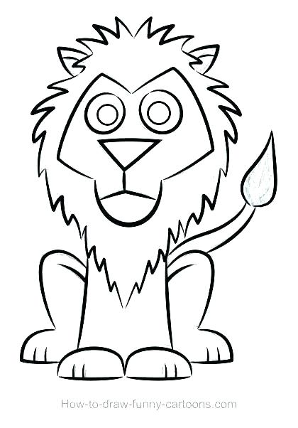 420x602 Lion Face Outline Drawing At Free For Personal Use Looking Cool