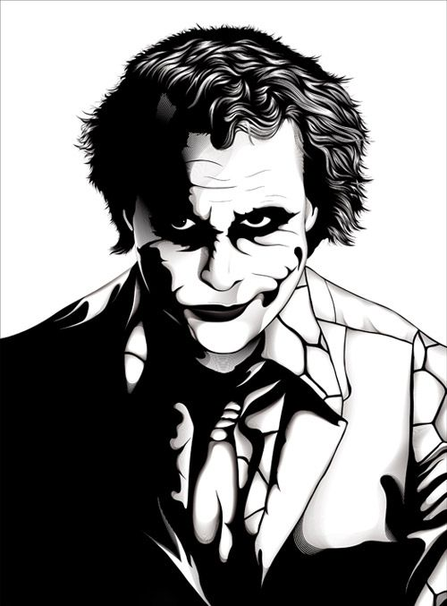 500x677 The Joker Artwork Stencil Joker, Artwork And Joker