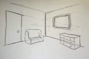 350x230 2 Point Perspective Draw Interiors
