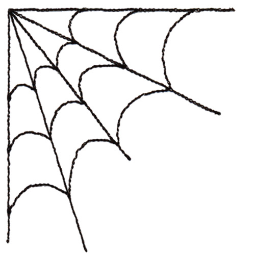 500x500 Corner Spider Web Drawing