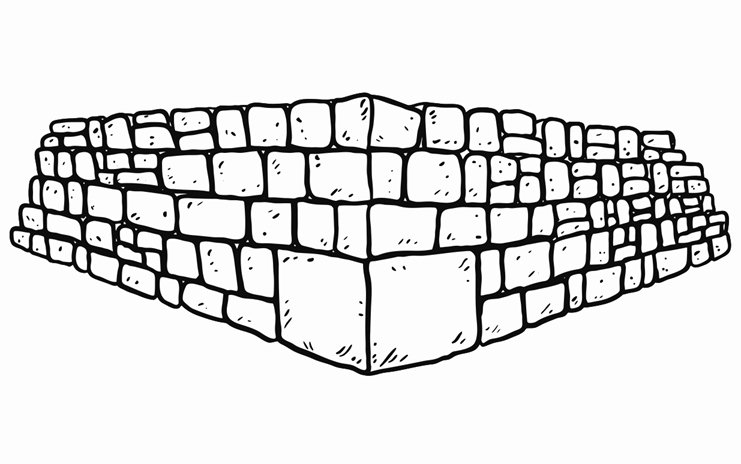 741x464 Cornerstone Printable Image Illustration Sketch For Cornerstone
