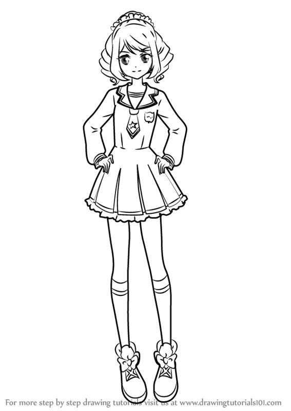 567x800 Learn How To Draw Laura Sakuraba From Aikatsu Stars! (Aikatsu