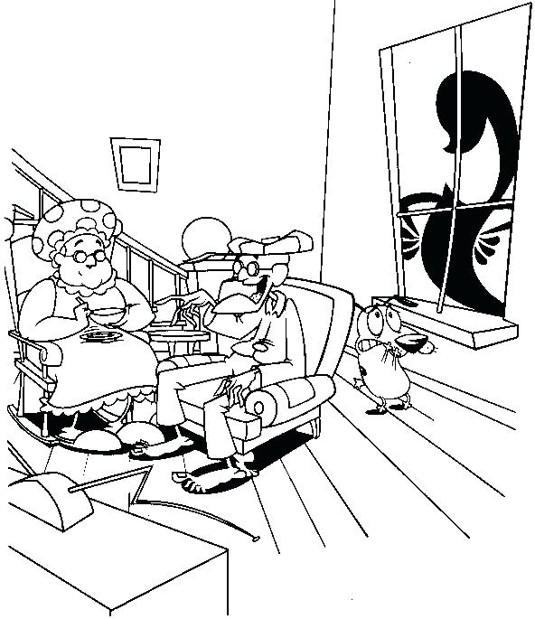 db0d0bf425952 592x685 Courage The Cowardly Dog Coloring Pages Children Coloring Courage