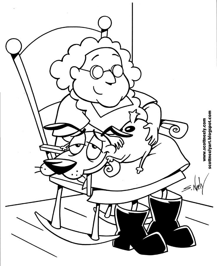 82b8469dd1056 736x900 Courage The Cowardly Dog Coloring Pages Great Courage The Cowardly