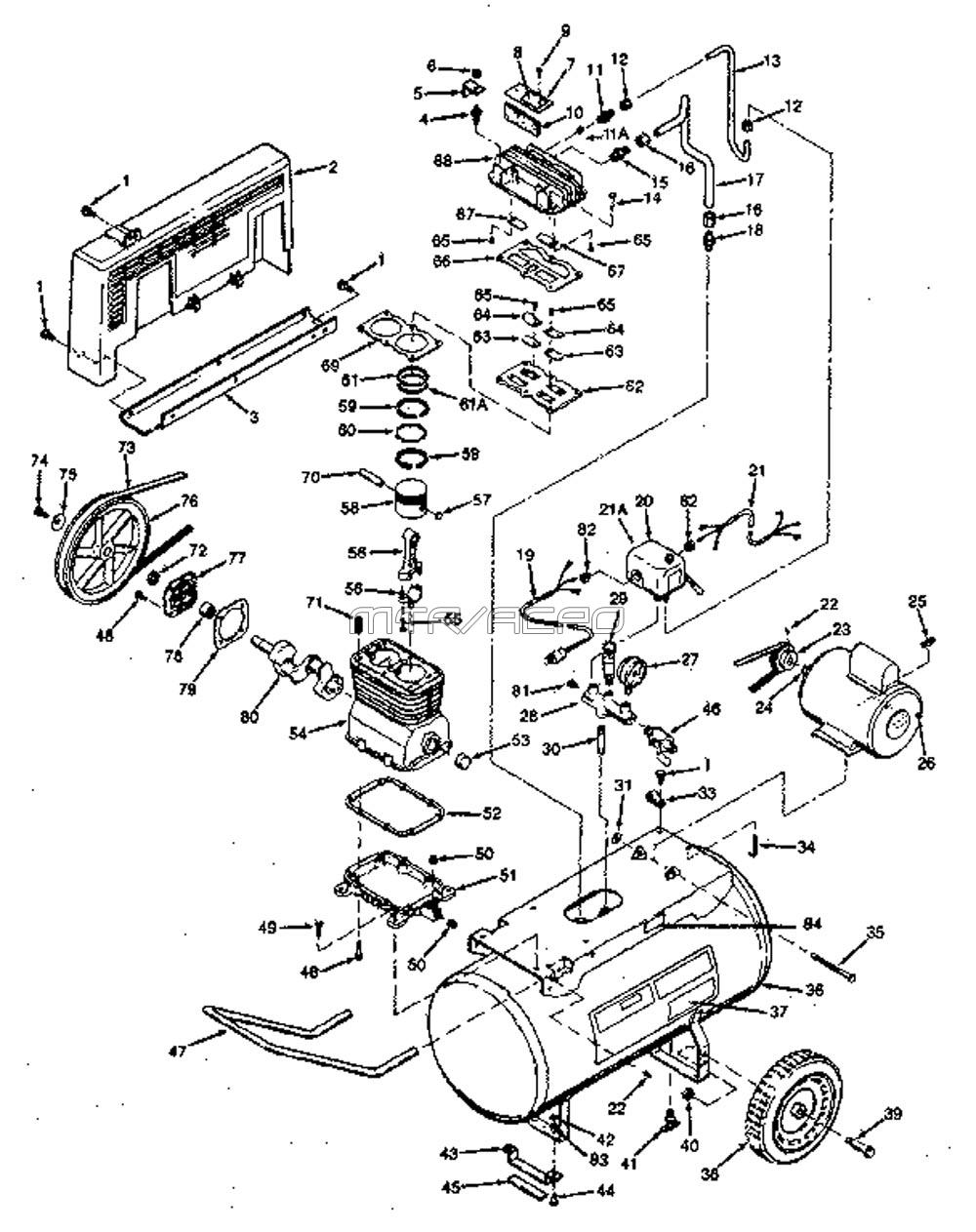 Craftsman Drawing At Free For Personal Use Wiring Diagram Router 1000x1263 Sears 919177541 Air Compressor Parts