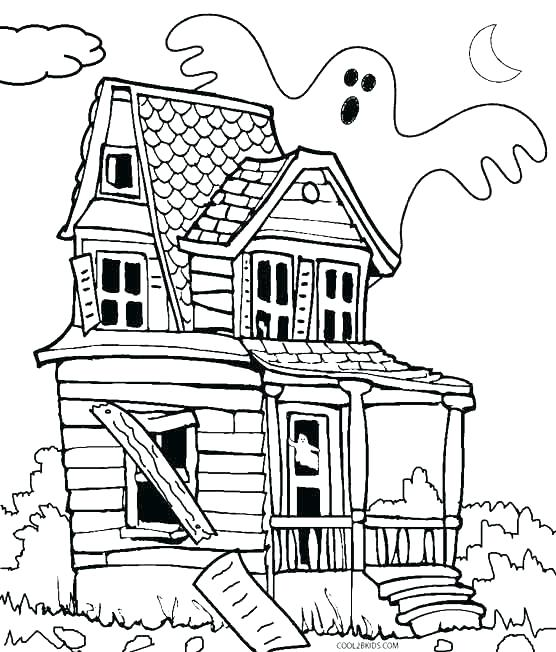 556x652 Haunted Castle Coloring Pages Haunted Castle Coloring Page Haunted