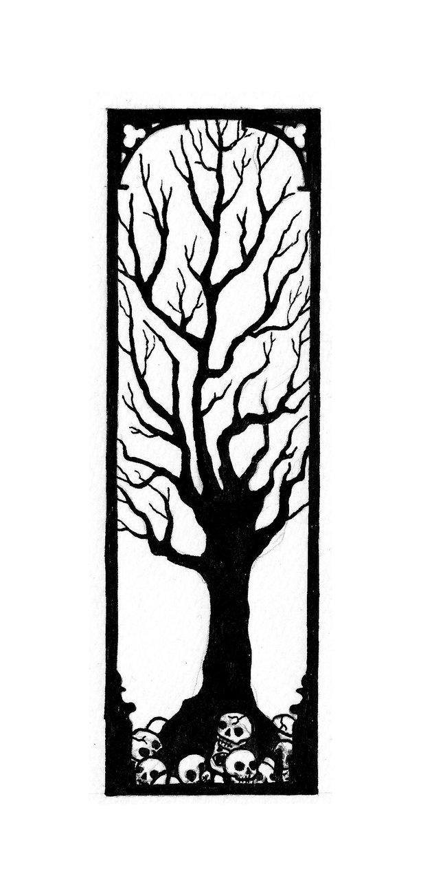 613x1302 Dead Tree Bookmark By Anitakolsen