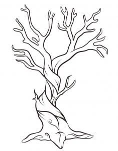 235x302 How To Draw A Twisted Tree. Kid's Room Drawings