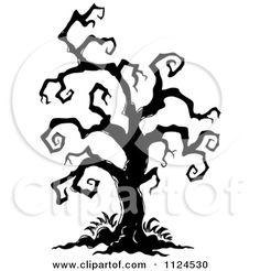 236x246 Creepy Bird In Tree Silhouette Creepy Tree Ravens