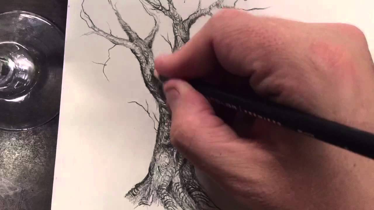 1280x720 How To Draw And Paint A Creepy, Twisted Tree