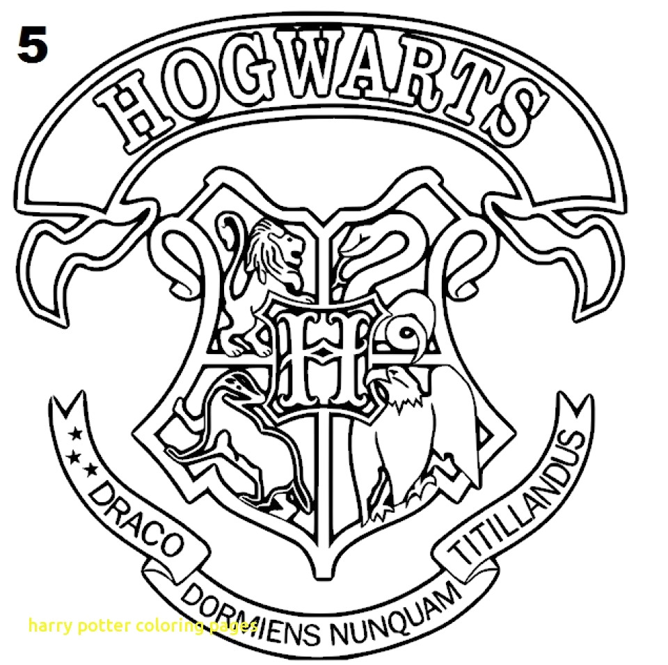 960x956 Hogwarts Crest Drawing