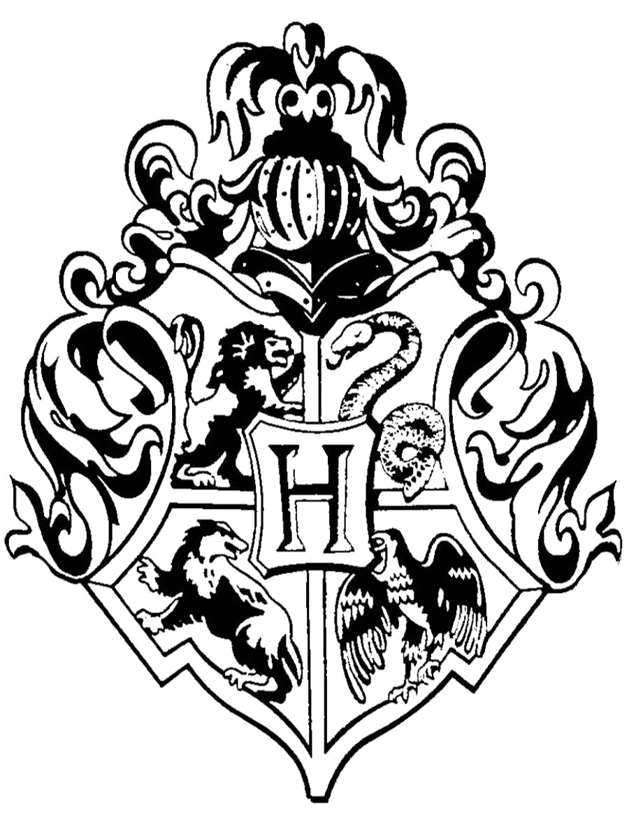900x1200 Hogwarts Crest Drawing At Getdrawings Com Free For Personal Use