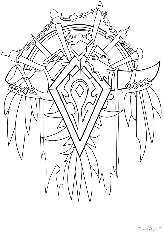 877x1240 Horde Crest By Mimizu