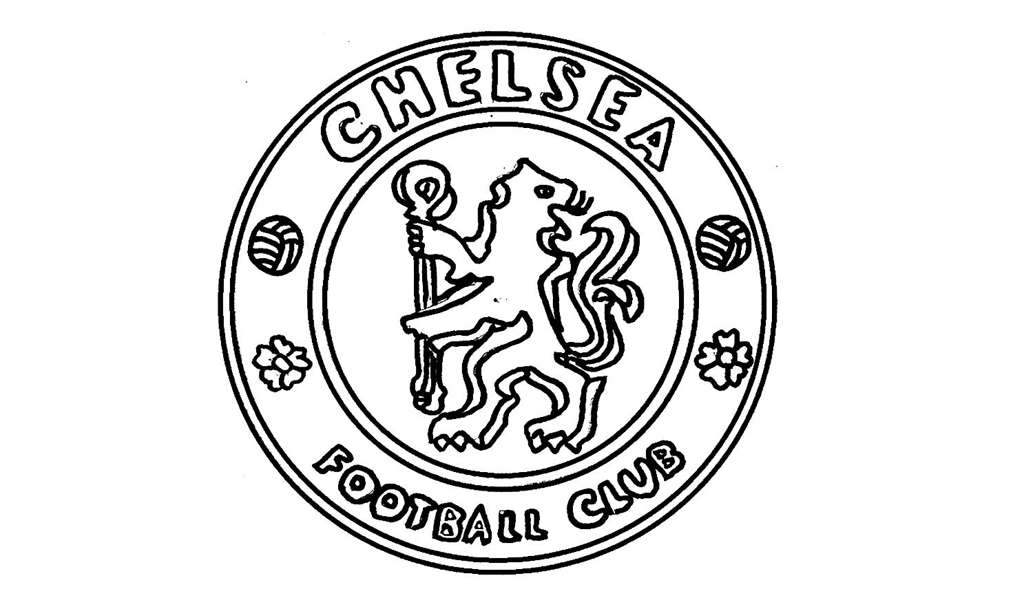 1500x885 How To Draw The Chelsea Fc Logo (Cfc)