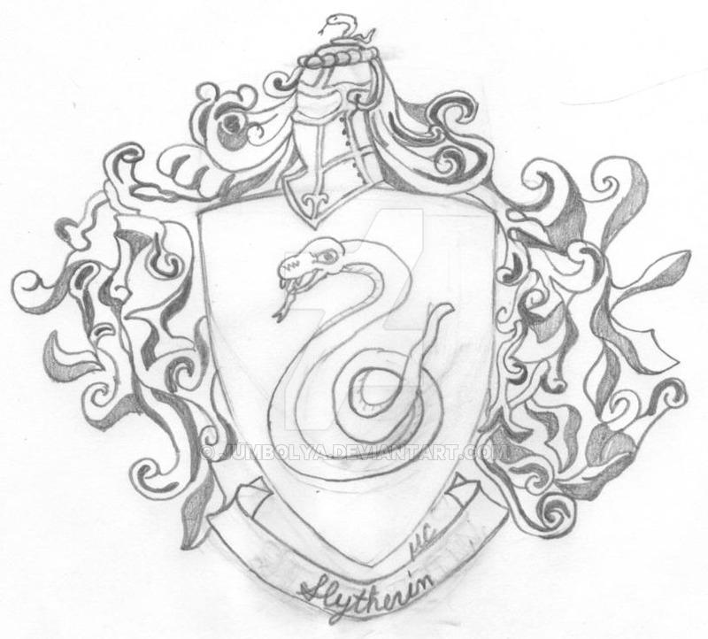 800x722 Slytherin Crest By Jumbolya