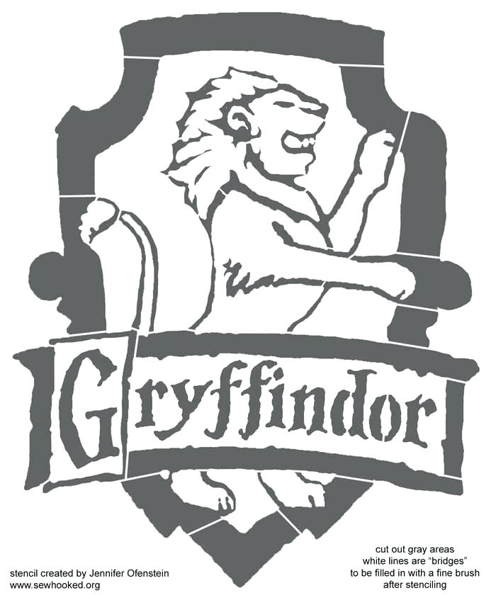 700x840 Crest Drawing At Free For Personal Use Stencil Official Gryffindor