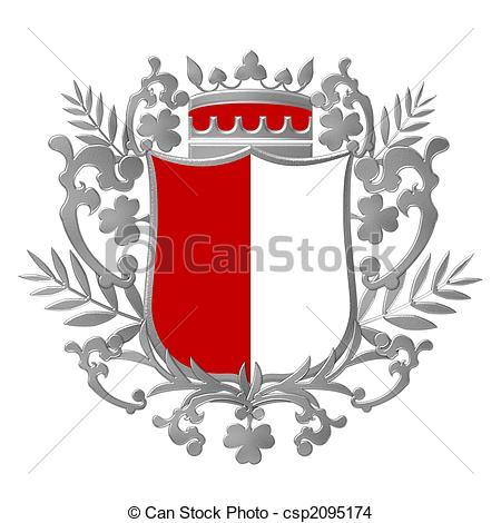 450x470 Colored Crest Emblem Drawing