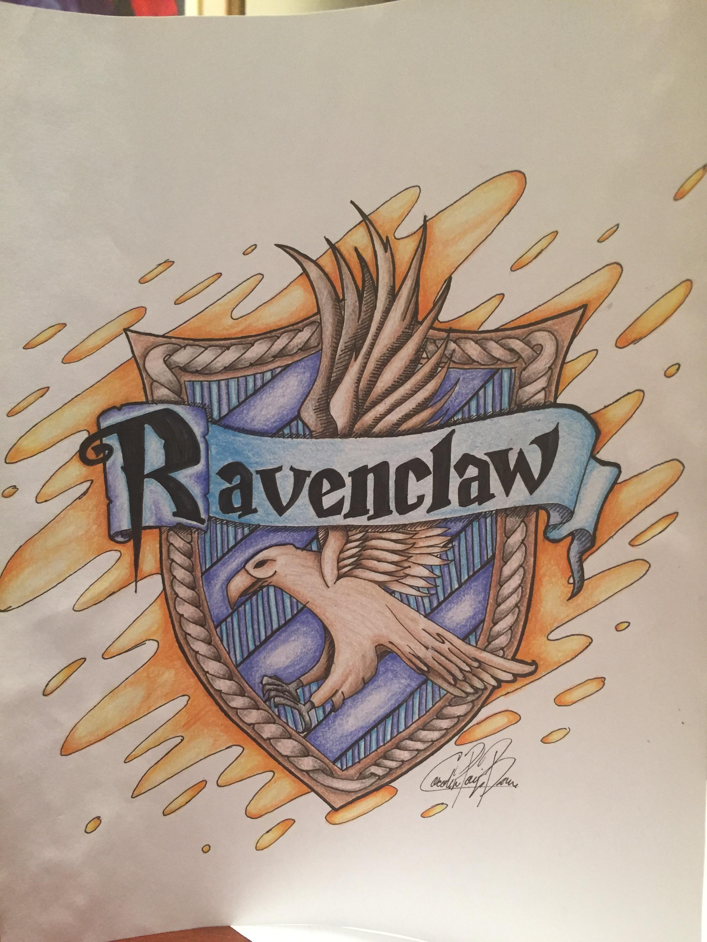 2448x3264 Ravenclaw Crest Drawing