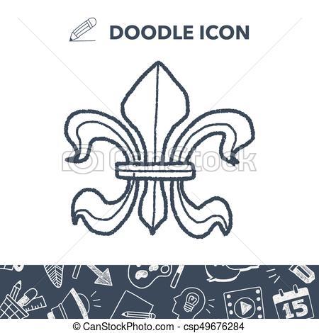 450x470 Royal Crest Doodle Vector