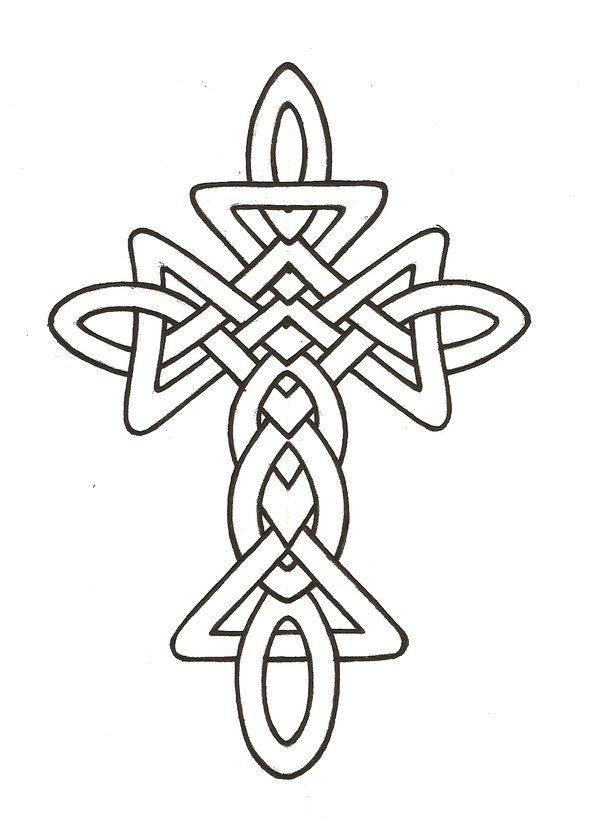 600x828 Gallery Line Drawing Of Cross,