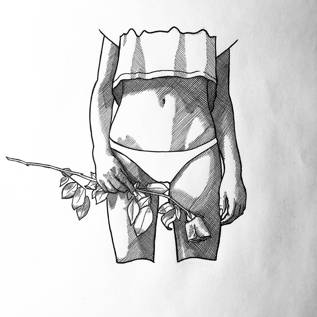 1080x1080 Pictures Drawing Of A Rose Hatched,