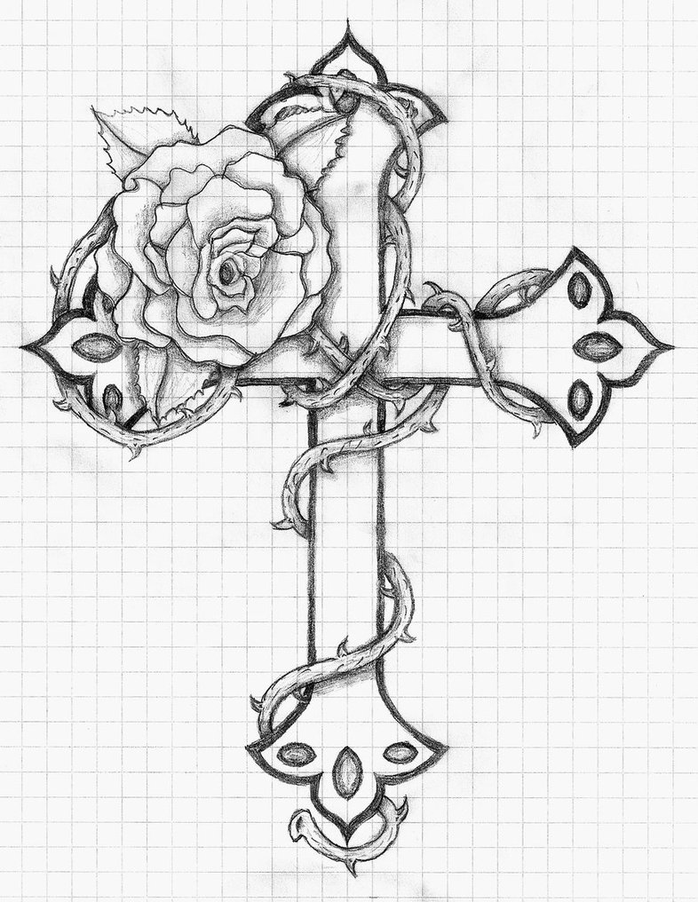 786x1016 Rose And Cross By Balloon Fiasco