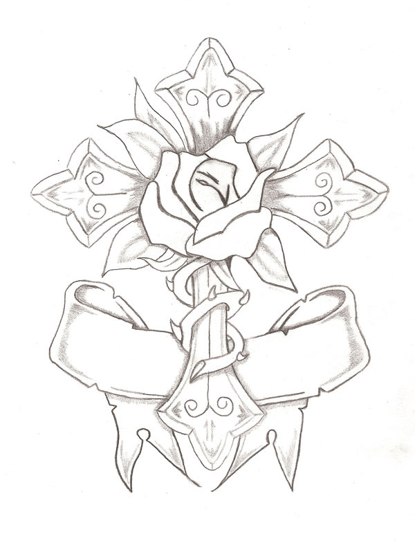 600x785 Rose And Cross By Bubbaion