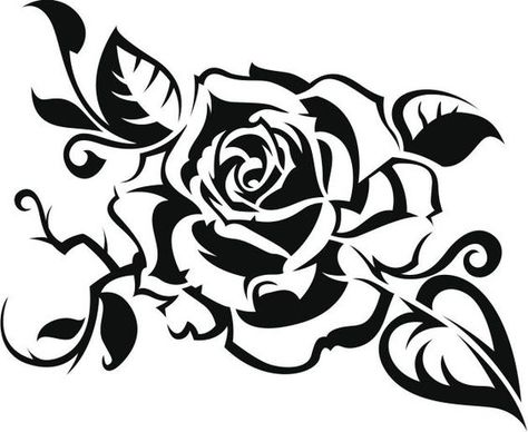 474x388 Black Rose On White Background Free Vector Art And Vector Art