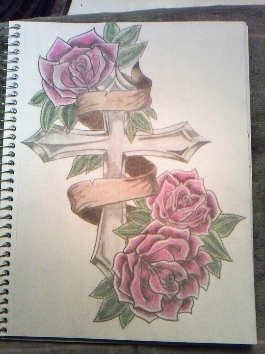 540x720 Best Photos Of Drawings Of Crosses With Roses