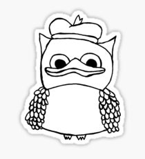 210x230 Crude Duck Drawing Stickers Redbubble