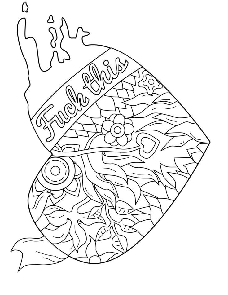 736x952 50 Free Printable Swear Coloring Pages
