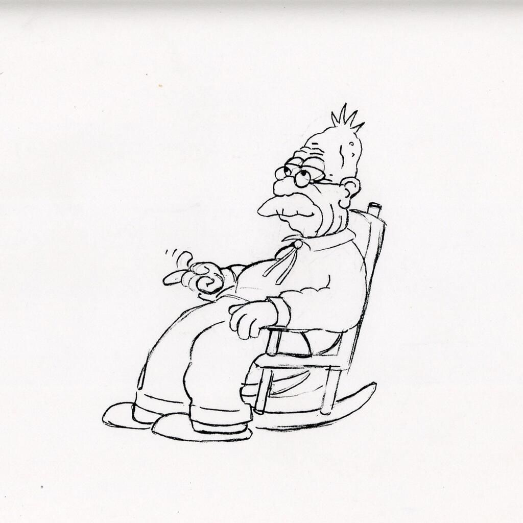 1024x1024 Very Early Simpsons Sketches (Circa 1987) By David Silverman. I