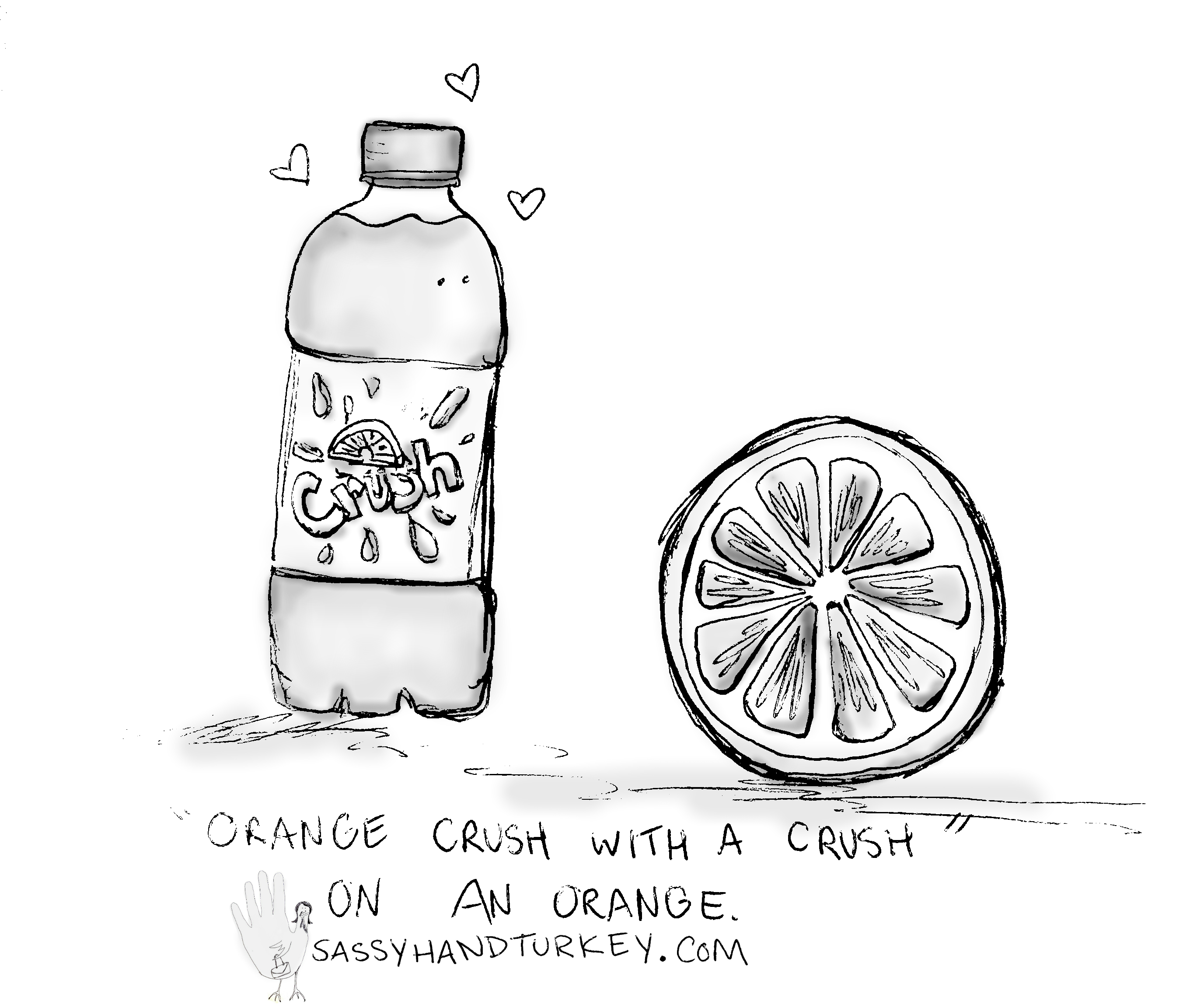 2737x2304 Orange Crush With A Crush On An Orange Sassy Hand Turkey