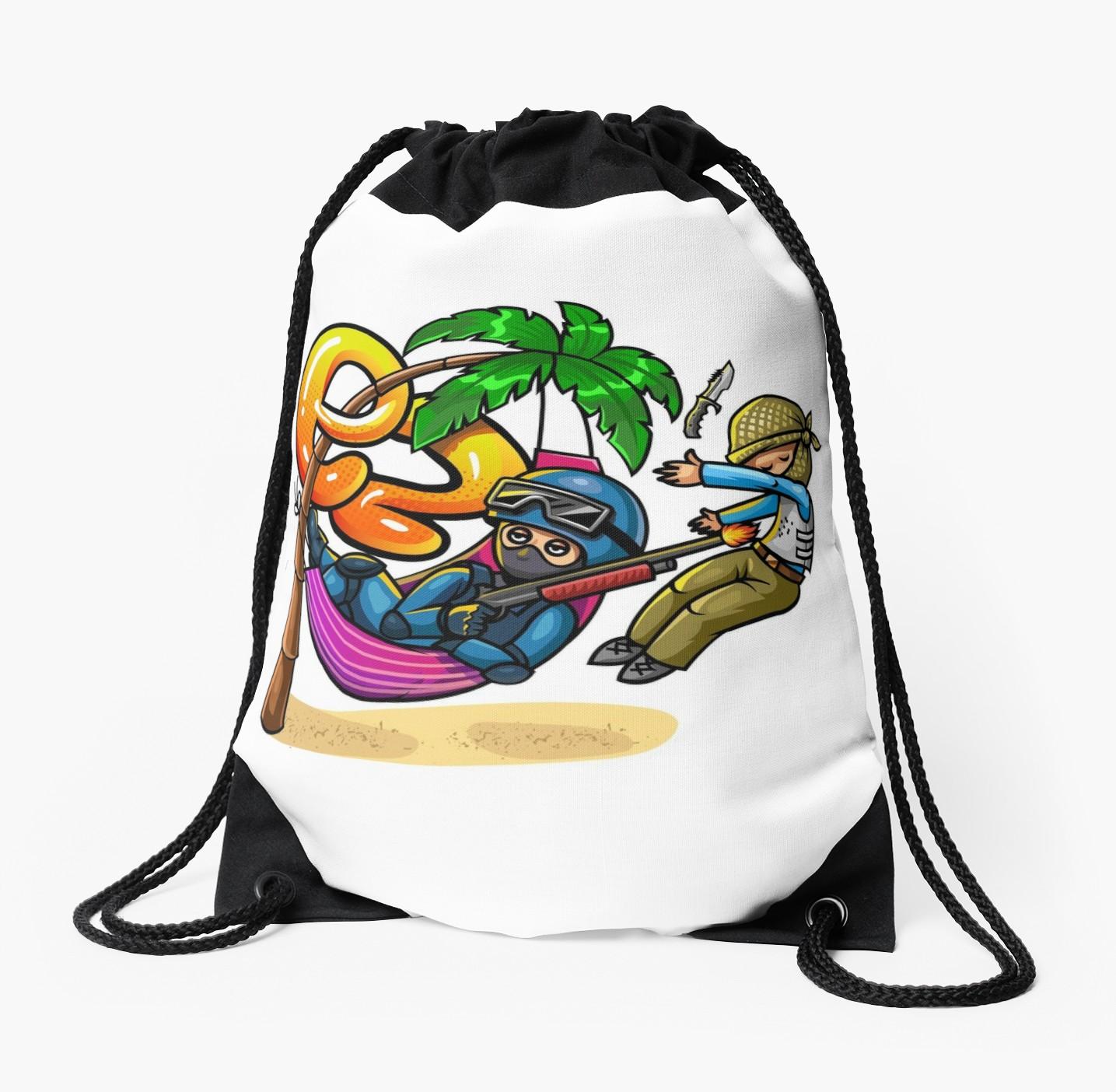 1435x1404 Ez (Csgo) Drawstring Bags By Entrykill Redbubble