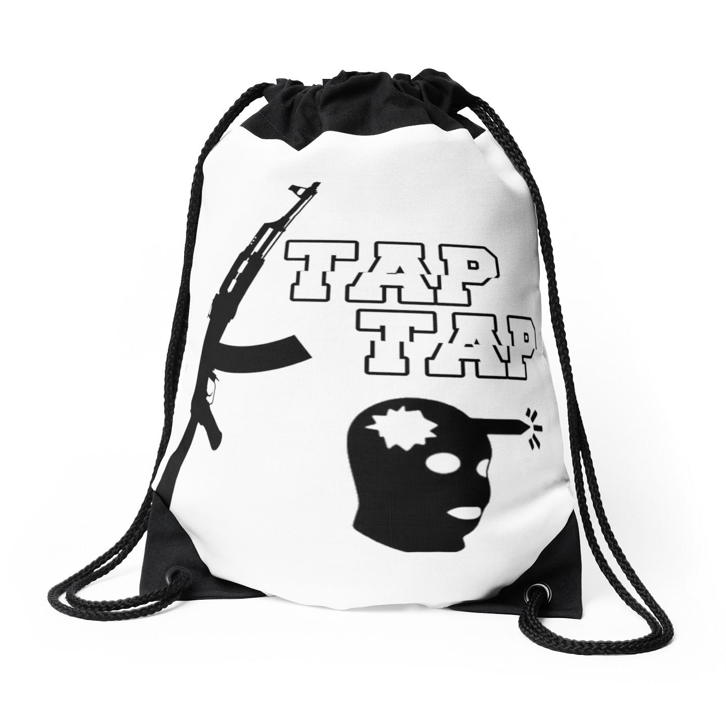 1435x1404 Tap Tap (Csgo) Drawstring Bags By Dibzz Redbubble