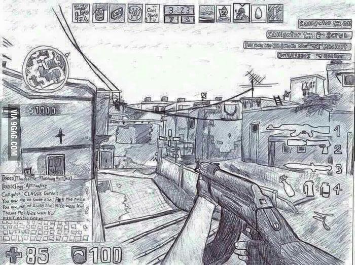 700x523 Amazing Csgo Drawing