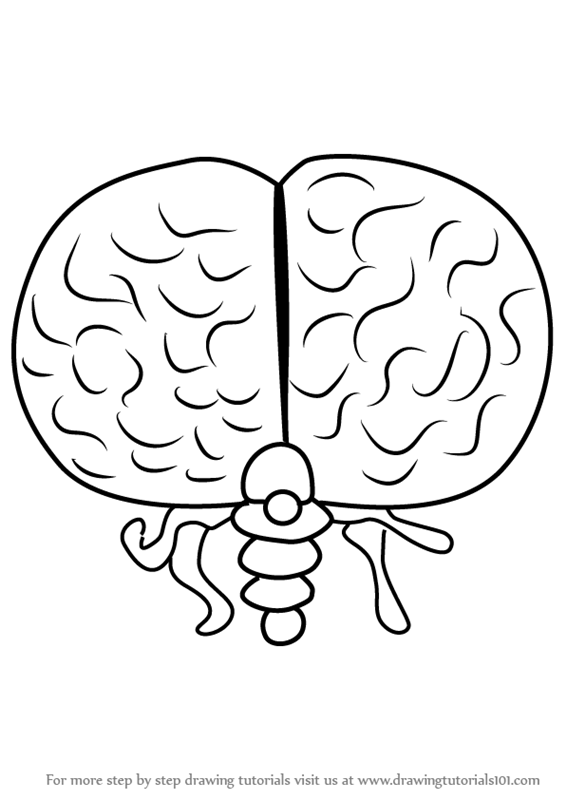 566x800 Learn How To Draw Brain Of Cthulhu From Terraria (Terraria) Step