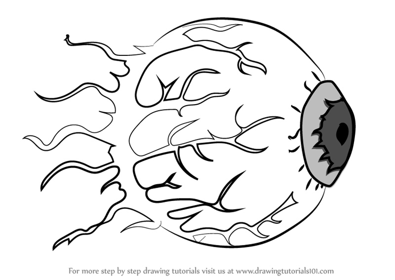 800x567 Learn How To Draw Eye Of Cthulhu From Terraria (Terraria) Step By