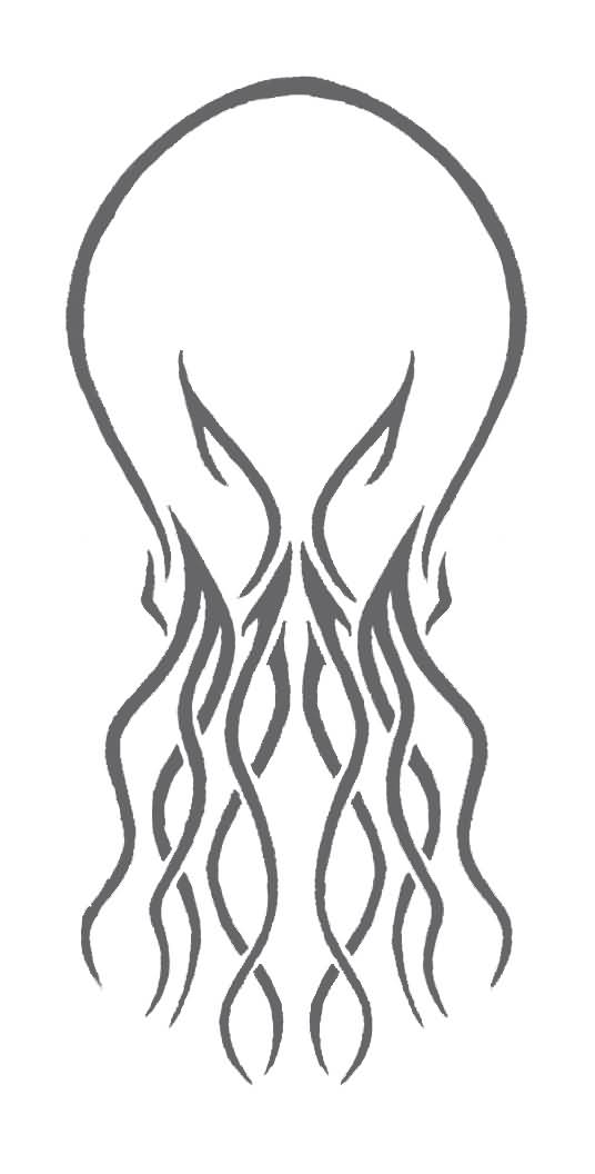 536x1056 Outline Cthulhu Tattoo Design By Thechaun