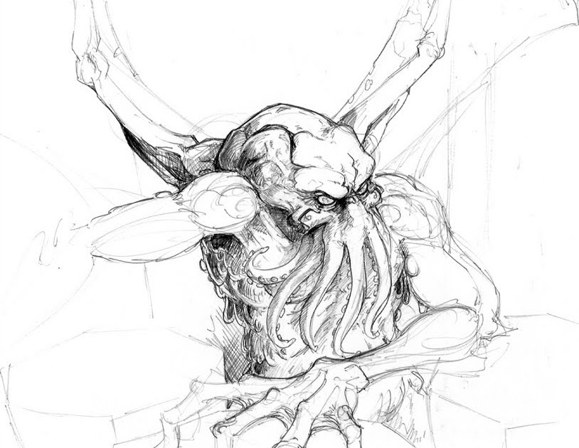 814x630 The Royal Daily Sketch Cthulhu Sketch 01
