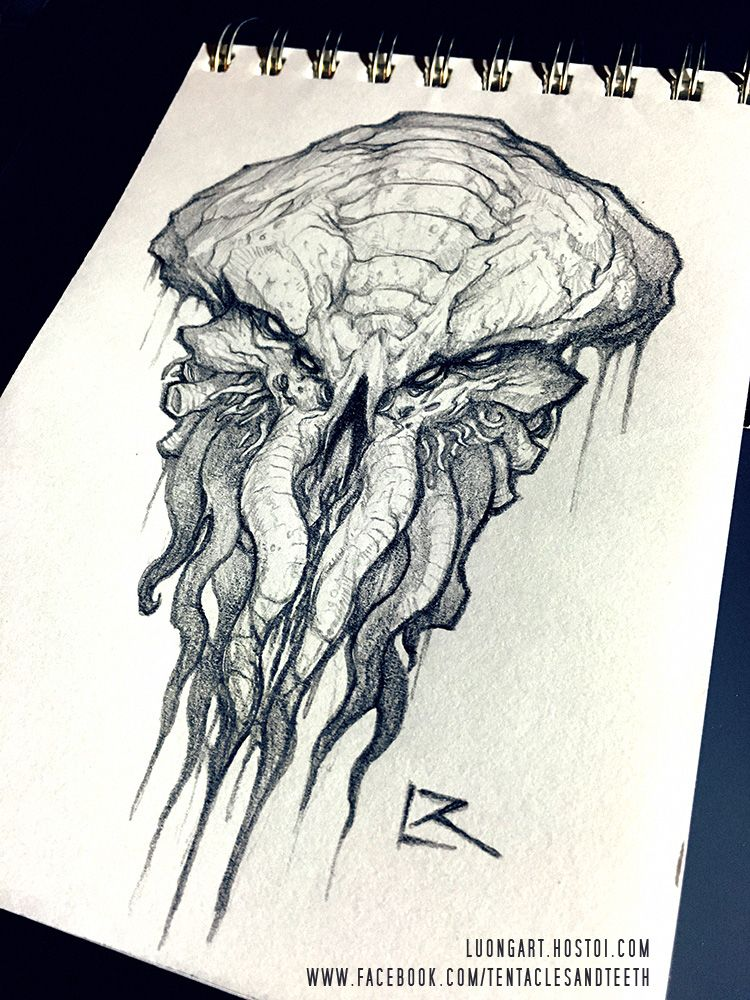 750x1000 Cthulhu Sketch By Richard Luong Reward Sketches For The Cthulhu