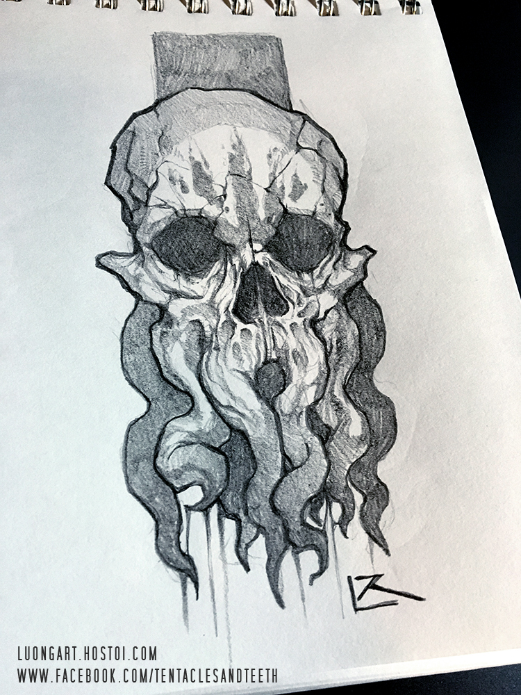 750x1000 Cthulhu Sketch By Tentaclesandteeth