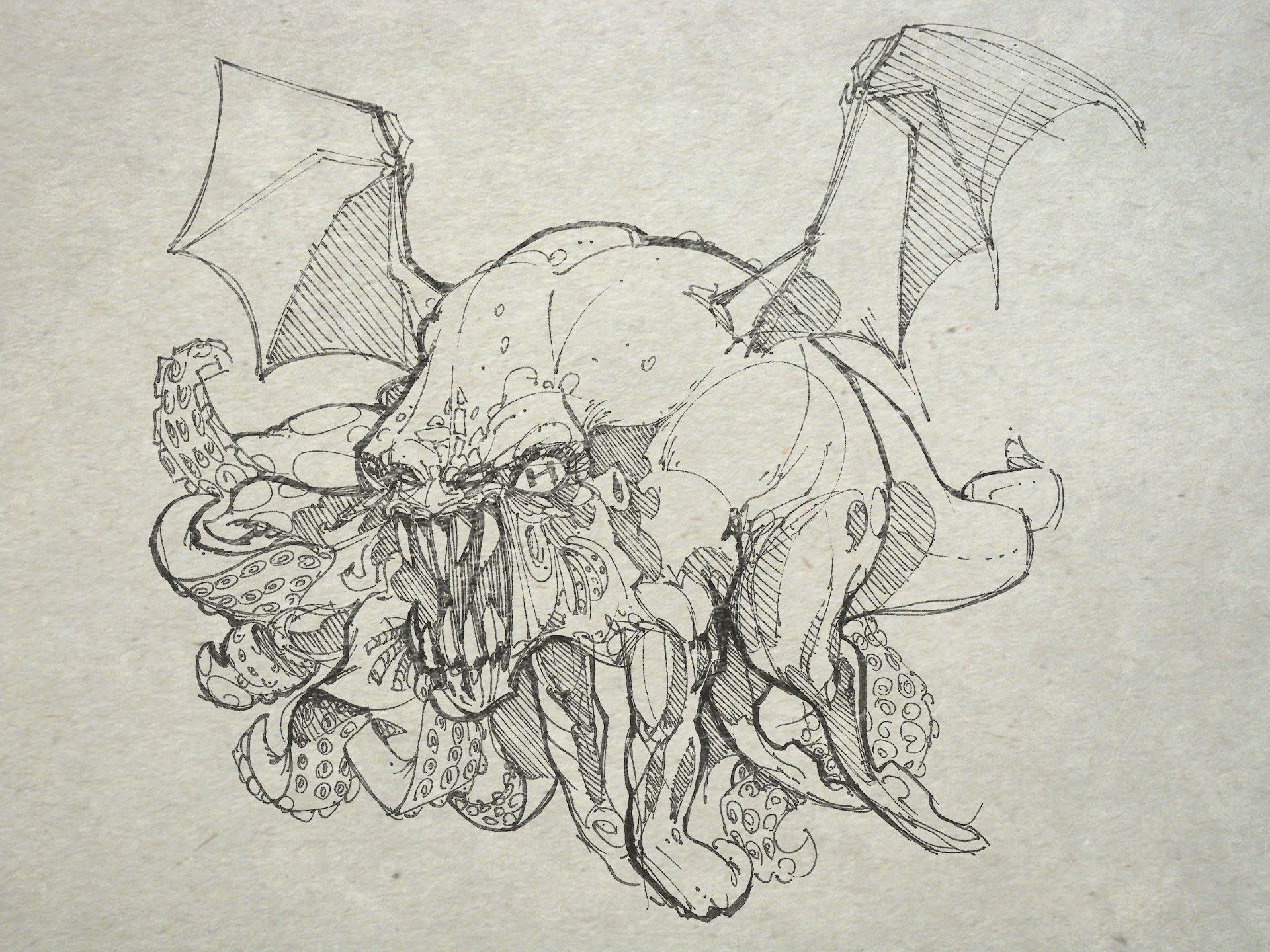 1920x1440 One Cthulhu Drawing A Day For One Year. Cthulhathon