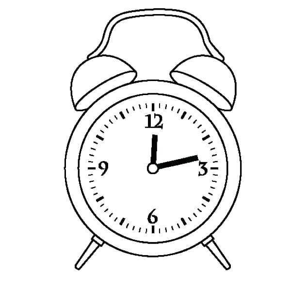 600x600 Clock Face Coloring Page Cuckoo Jack And The Alarm Drawing Twelve
