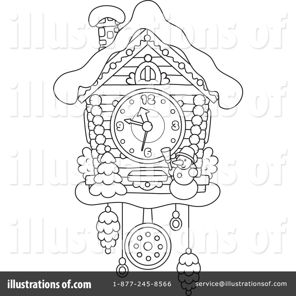 1024x1024 Cuckoo Clock Drawing At Com Free For Personal Us On Printable