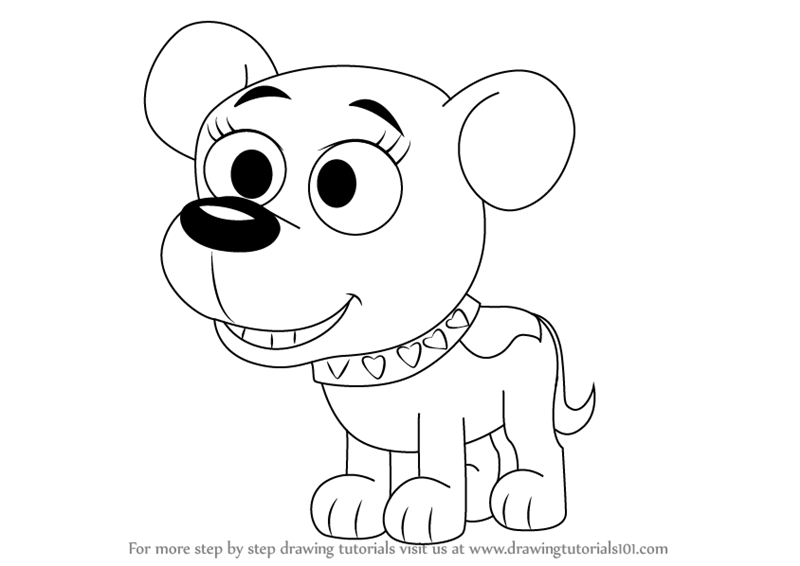 800x566 Learn How To Draw Cupcake From Pound Puppies (Pound Puppies) Step