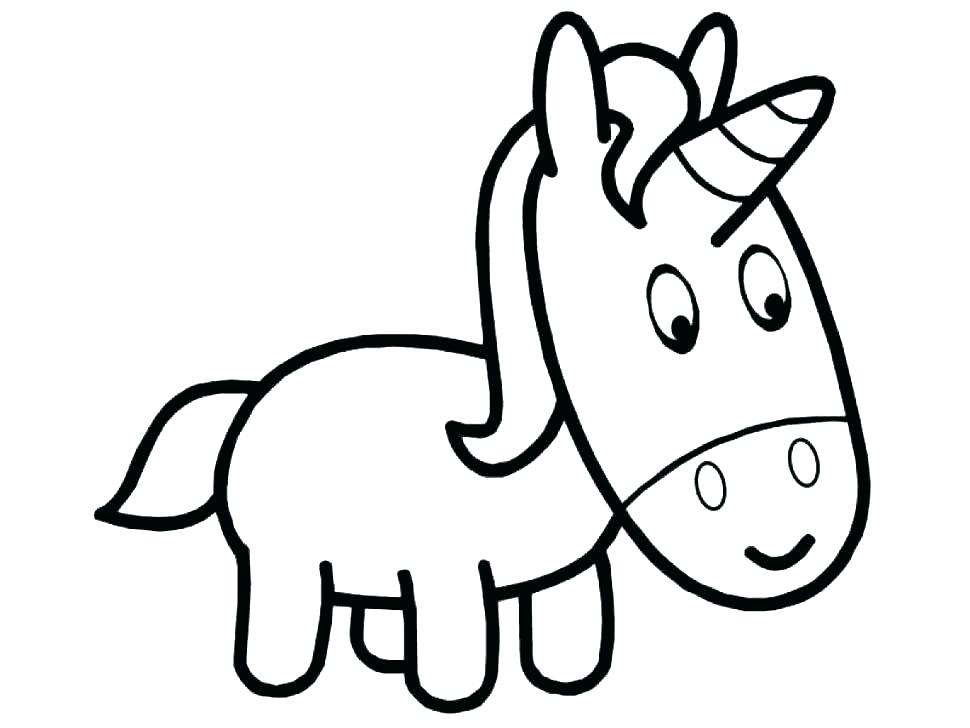 970x728 Cute Unicorn Coloring Pages Adorable Cartoon Unicorn Coloring Page