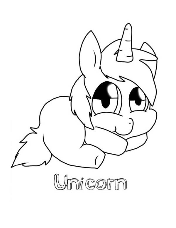 600x776 Cute Unicorn Drawing Coloring Pages
