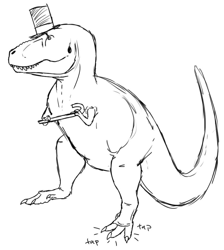 848x947 Adult Drawing Of A Dinosaur Drawing A Dinosaur Head. Drawing